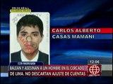 Cercado de Lima: Sicarios asesinaron a hombre de dos balazos