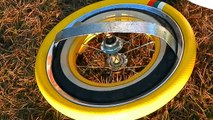 First ever - dual concentric rim with dual tires of newly invented armored pneumatic wheel