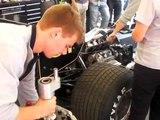 "F1 Renault Turbo sound  ""JPS Lotus Renault  Legends of A.senna  ""Engine warming-up"