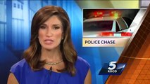 Oklahoma City Car Chase Ends in Rollover Foot Pursuit