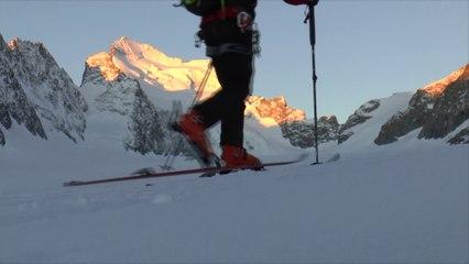 Dôme des Ecrins en skis à papa