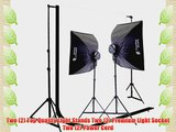 CowboyStudio 2000 Watt Digital Photography and Video Studio Continuous Lighting Kit with Carrying