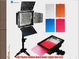LimoStudio LED 160 Photographic Lighting Kit Photo Studio Barndoor Light Continuous Video Light