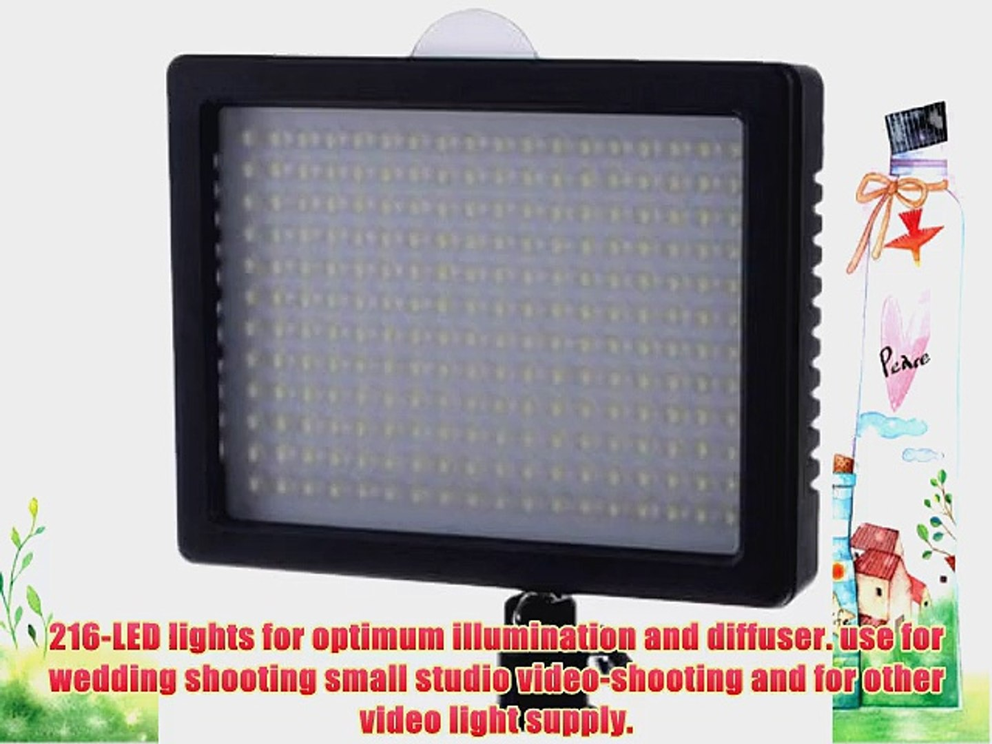 Bestlight? 216 LED Dimmable Ultra High Power Panel Digital Camera / Camcorder Video Light for