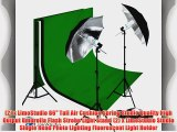 LimoStudio PHOTOGRAPHY STUDIO LIGHTING KIT BLACK UMBRELLA LIGHT MUSLIN BACKDROP WHITE BLACK