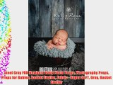 Steel Gray FUR Newborn Baby Photo Props Photography Props Props for Babies Basket Stuffer Fabric