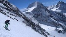 Eiger face ouest alpinisme ski de pente raide Oberland Alpes Bernoises