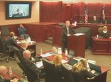 James Holmes seen and heard on hospital bed in Theater Shooting Trial opening statements Day 1