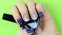 French tip nail art for beginner. 3 Cute and Easy Nail Art Designs / Variations with stickers