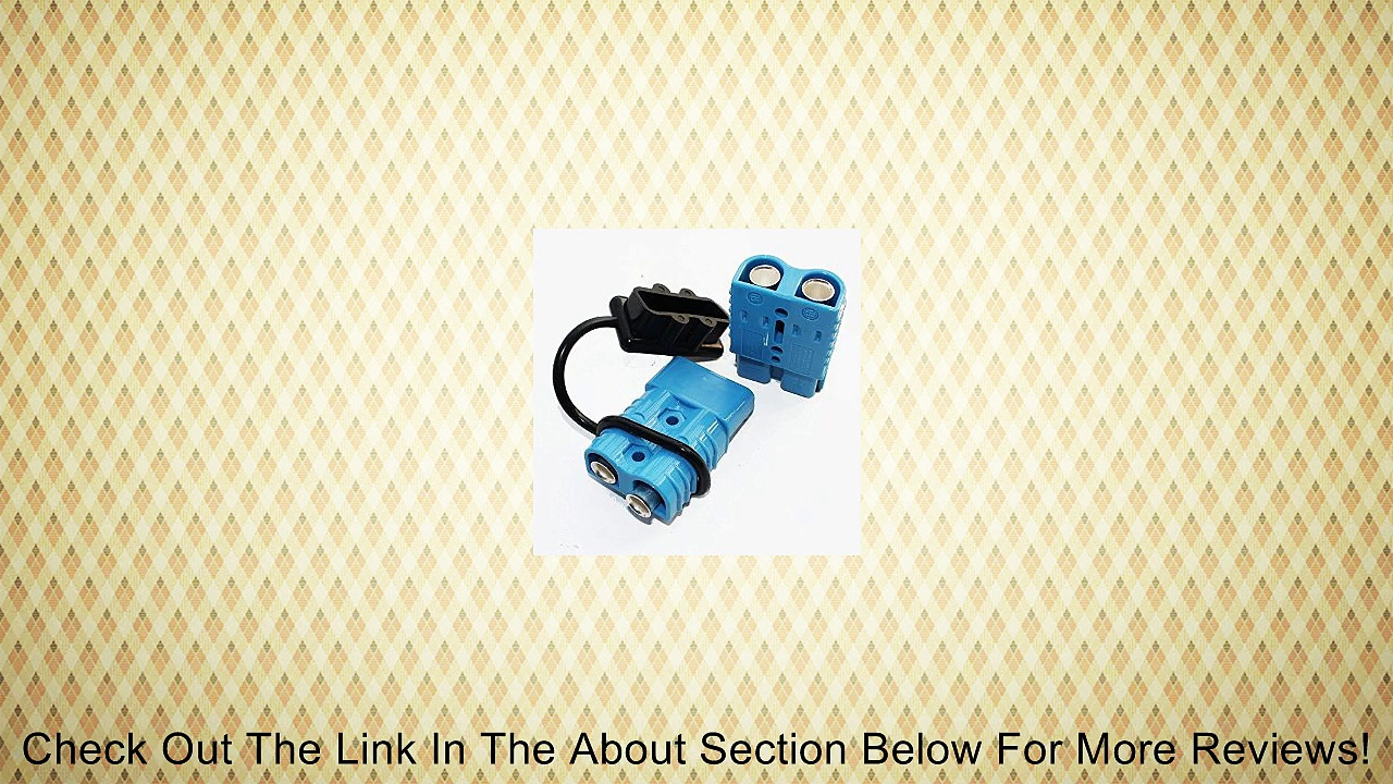 Battery Quick Connector Kit Blue 175A Plug Connect Disconnect Black Cover Winch Trailer 2AWG Review