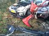 Auto ongeluk in Enschede / Car crash Enschede