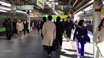 Tokyo Rush Hour, Shinjuku Station [iPhone 4S/HD]
