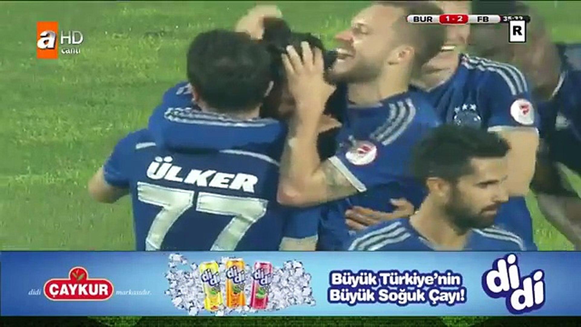 BRUNO ALVES FRİKİK GOLÜ  Bursaspor - Fenerbahçe  HD
