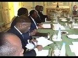 Rencontre du Président Ali Bongo Ondimba avec François Hollande à l'Elysée
