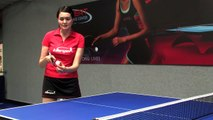 Table Tennis : The Forehand Spin Stroke in Ping Pong