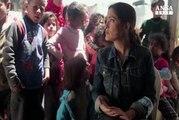 Salma Hayek nei campi profughi siriani in Libano