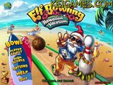 Fun Bowling Game: Elf Bowling: Hawaiian Vacation - Watch Me Play!