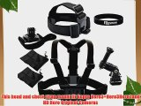 Eggsnow Head Strap   Chest Belt Harness Strap   360 Swivel Wrist Strap   2 Pouch for Gopro
