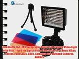 LimoStudio 160 LED Photography Digital SLR Camera Video Light with Mini Tripod for Digital