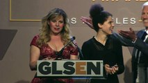 Kirsten Vangsness and Ariana Thornton Introduce Cliff Tang | 2014 GLSEN Respect Awards - Los Angeles