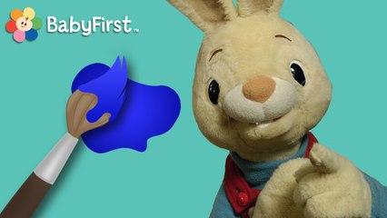 Henri le lapin. Apprenons ensemble les couleurs! - bleu