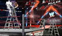 WWE SvR 2011 Epic Finisher & Fall off Ladder Glitch