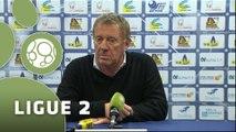 Conférence de presse US Créteil-Lusitanos - Stade Brestois 29 (2-1) : Thierry FROGER (USCL) - Alex  DUPONT (SB29) - 2014/2015