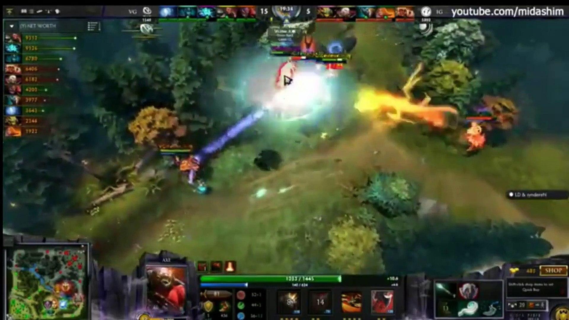 [ DOTA 2 ]  MUST WATCH Highlight   Vici Gaming vs Invictus Gaming   At StarLadder 12