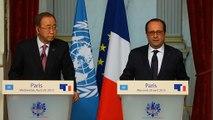 Point presse conjoint avec M. Ban Ki-moon, Secrétaire général des Nations unies