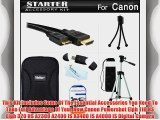 Starter Accessories Kit For The Canon Powershot Elph 110 HS Elph 320 HS Digital Camera Includes