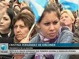 """Cristina: """"Es el mejor homenaje a esos jóvenes de la Noche de los Lápices"""""""