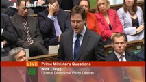 Nick Clegg at PMQs - meeting single women