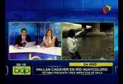 Hallan cuerpo de joven asesinado a balazos en río Huaycoloro