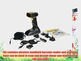 Wasp WWS850 Freedom Wireless Barcode Scanner Kit with USB Base 100 scan/s Scan Rate 5 VDC