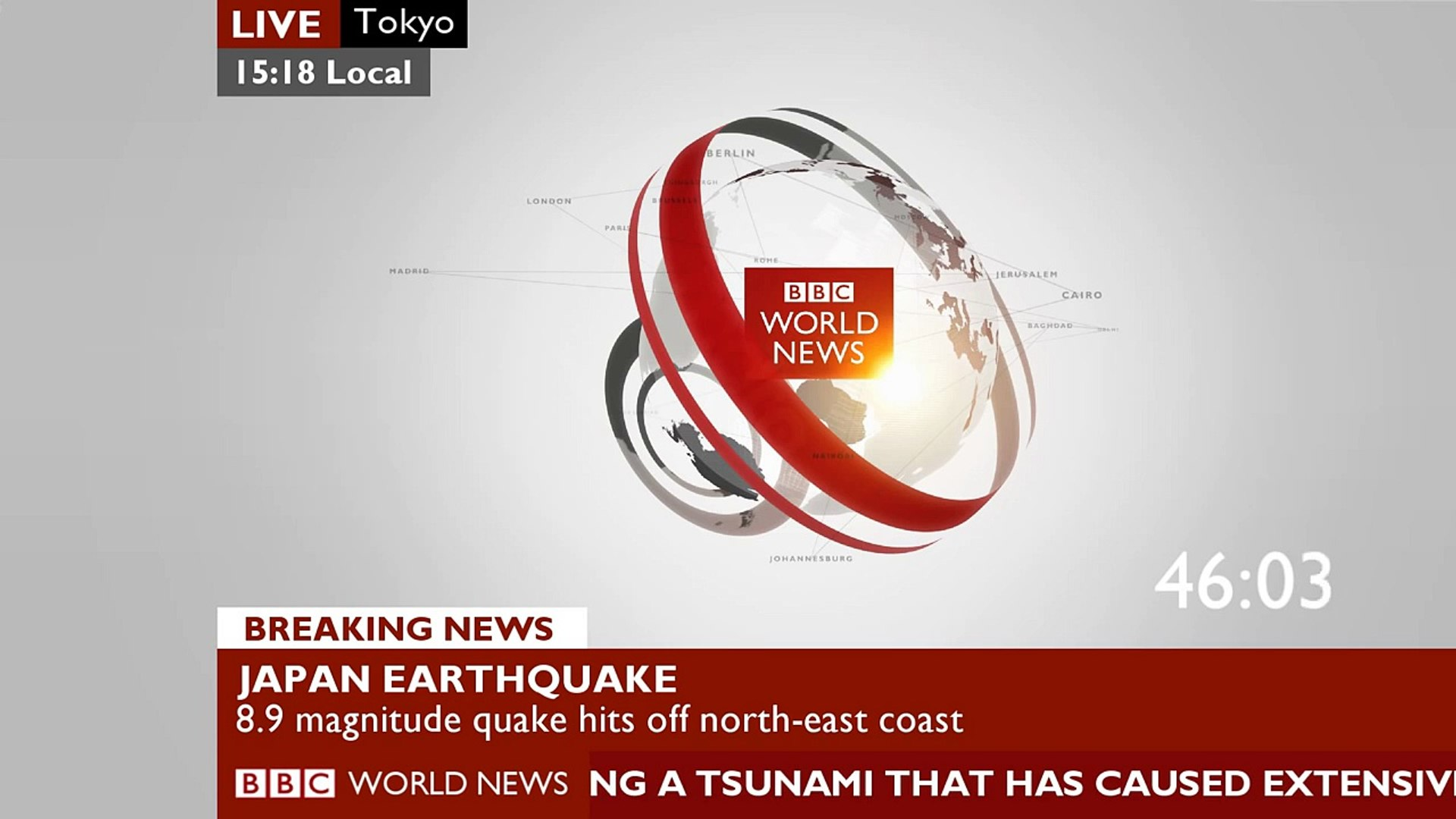 BBC -- World News - 'BREAKING NEWS' (ticker tape) 【Full-HD】