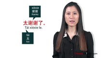 Learn Chinese - Chinese in Three Minutes - Thank You & You're Welcome in Chinese