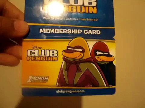 clubpenguin membership card .