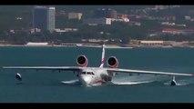 Beriev BE 200 Amphibious Aircraft landing and Takeoff