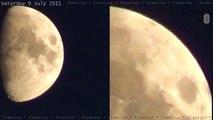 7 UFOs near Moon? 9July2011 HD Too Big for 'Moon Orbs' OVNI 飞碟 НЛО ユーフォー eXoPolitcs