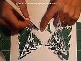 Christmas Pop Up Card Tutorial: Complex Pyramid Tree