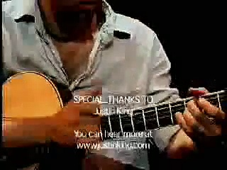 acoustic guitar tapping
