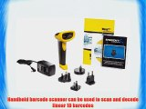 Wasp WWS550I Freedom Wireless Barcode Scanner with USB Base 5 mil Resolution 230 scan/s Scan