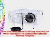 Aketek UC28 24W PRO Portable HDMI Mini Home LED Projector 60 Cinema Theater-White