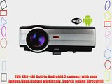 EUG X89 (A) LCD LED Wireless Android4.2 Wifi HD Video Projector Support 1080p 3D 3000 Lumens