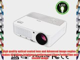 EUG X660S  Full HD Home Office LCD LED Projector 1080p 3D Multimedia Image Video System 2800