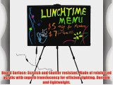 28x20 Flashing Illuminated Erasable Neon LED Writing Board Menu Sign with Control Button (A