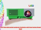 EUG 500D  Mini Home LED Projector HDMI 1080p HD LCD Video Image System 100 Lumens For Home