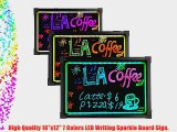 ElecNova Electronic Illuminated Flashing LED Message Sign Writing Boardwith 7 different Colors