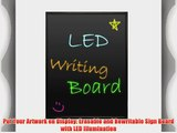 Pyle PLWB3040 Erasable Illuminated Flashing LED Writing Board with Remote Control and 8 Fluorescent