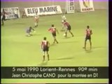 05/05/90 : Jean-Christophe Cano (90') : Lorient - Rennes (0-2)
